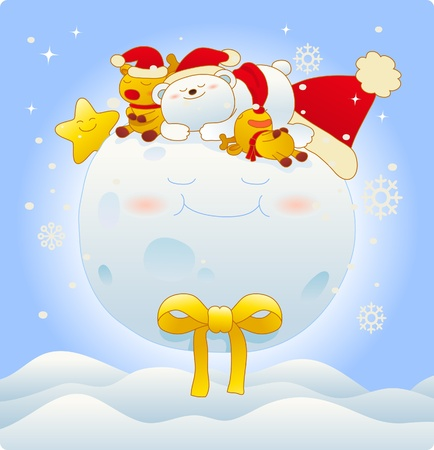 Vector illustration, Christmas card, Greeting card Stock Vector - 9830289