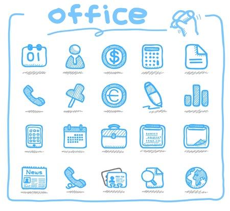 dispense: Dibujado a mano los iconos de la oficina