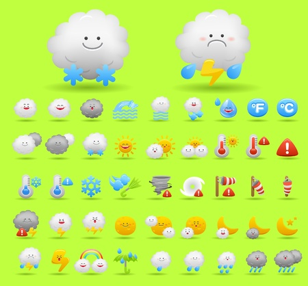 weather icon set Stock Vector - 10556201
