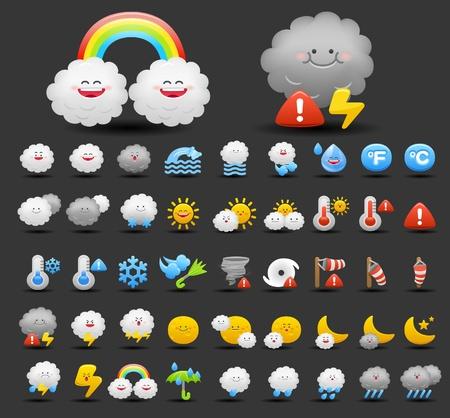 weather icon set Stock Vector - 10556180