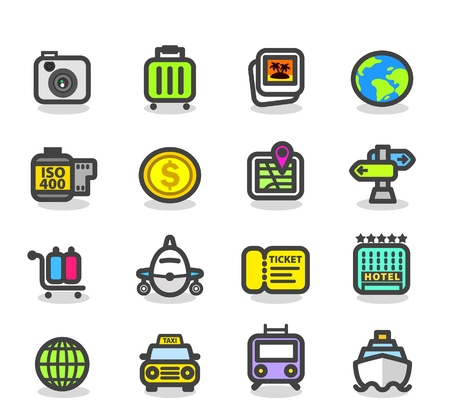 descriptive: Travel,trip,business travel icon set Illustration