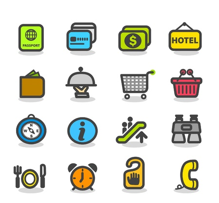 Travel ,holiday icon set Vector