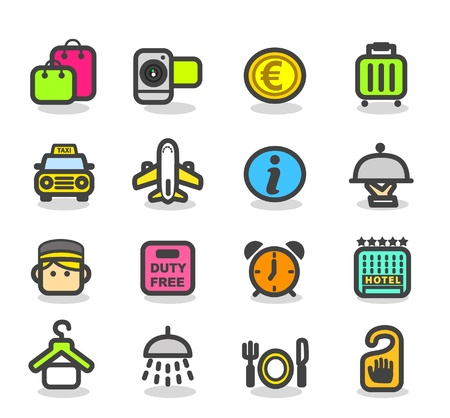Travel ,holiday icon set Stock Vector - 10926408