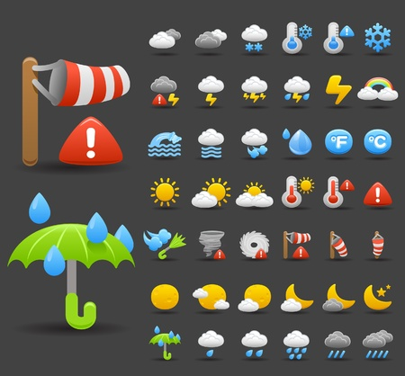 weather icon set Stock Vector - 10556193