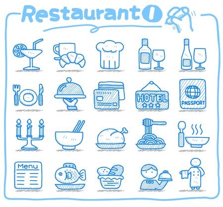 Icono de restaurante dibujado a mano Foto de archivo - 10585349
