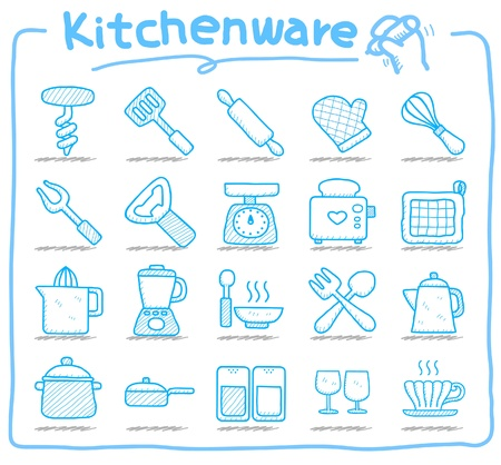 eating utensil: kitchenware icon set  Illustration