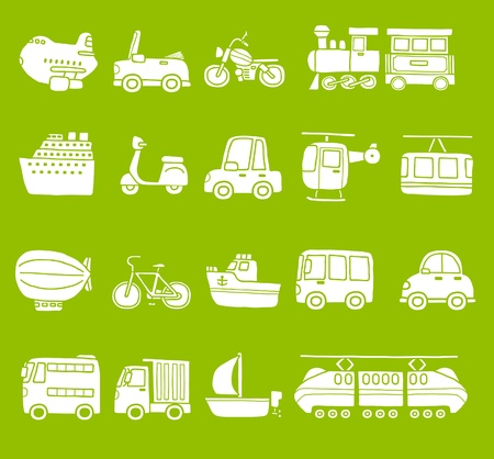 cute simple transportation icon  Stock Vector - 10567276