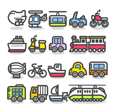 freight: cute simple transportation icon  Illustration