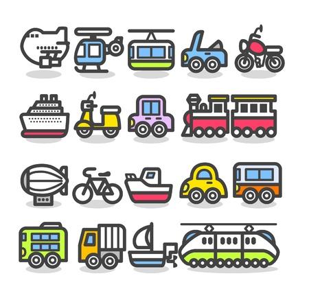 leuke eenvoudige transport icoon