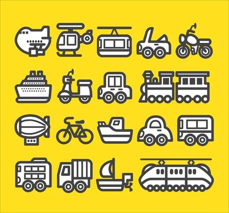 cute simple transportation icon  Vector