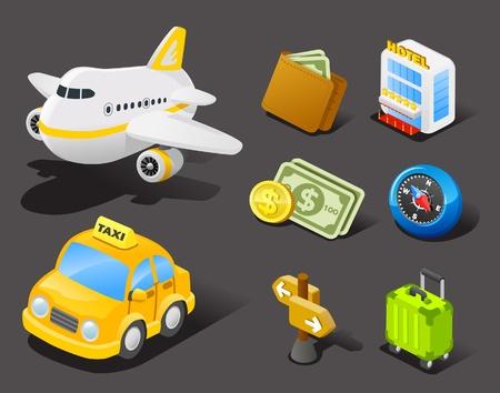 ilustration: travel icon set  Illustration