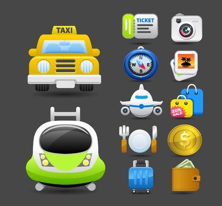 travel icon set Stock Vector - 10567290