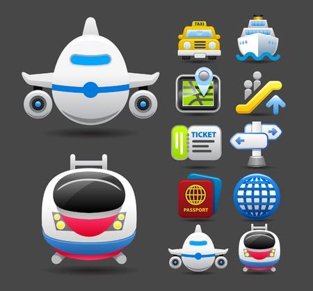 billets d avion: voyages ensemble d'ic�nes