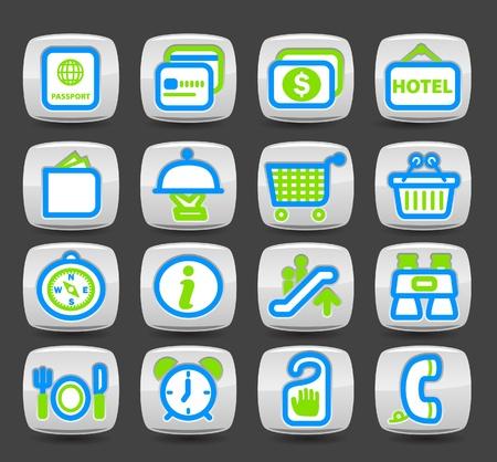 push room: travel icon set  Illustration