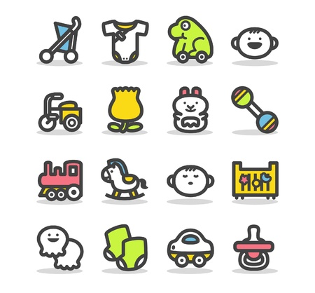 Baby icon set Stock Vector - 10624644