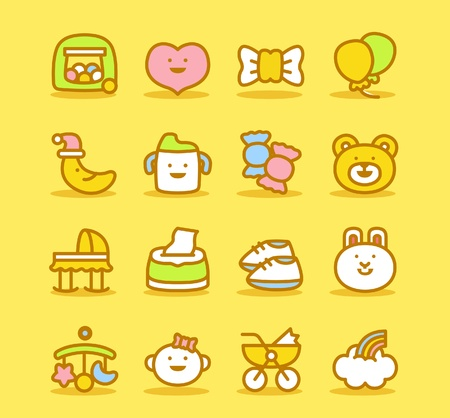 ilustration and painting: Baby icon set