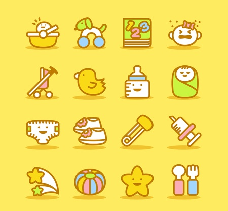 cry icon: Baby icon set