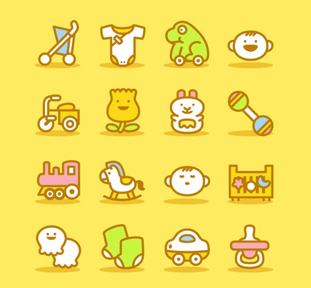 Baby icon set Stock Vector - 10624645