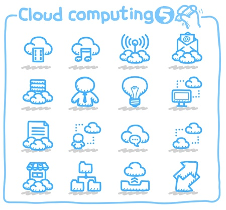 cloud computing,communication,network icon set Stock Vector - 10624654