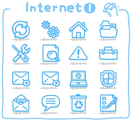 email security: internet,business,communication icon set