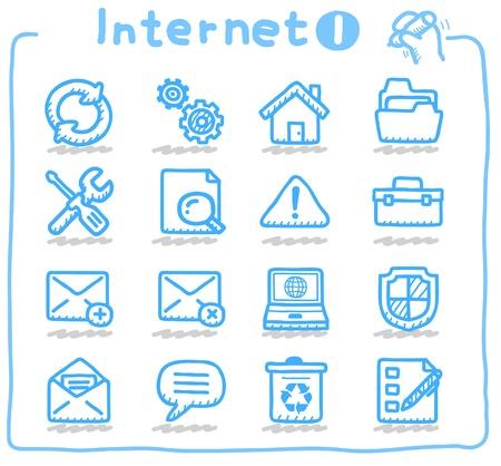 Internet, negocios, conjunto de iconos de la comunicación Foto de archivo - 10624652