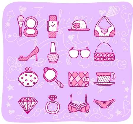 fashion,beauty accessory icon set Stock Vector - 10926410