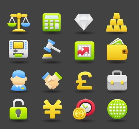Banking,Finance,business, money icon set Vector