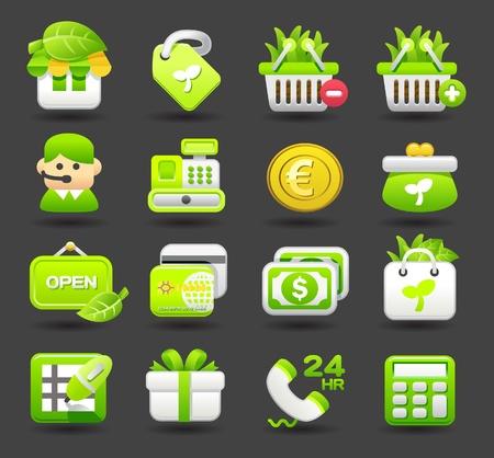 conjunto de iconos de tiendas, negocios, viajes Ilustración de vector