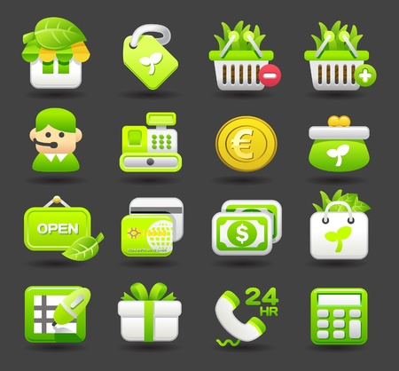 package icon: shopping,business,travel icon set