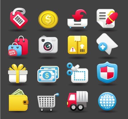 Conjunto de iconos de tiendas, negocios, viajes Foto de archivo - 10739902