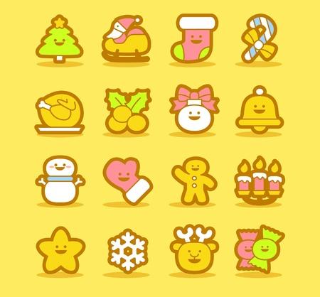 holiday cookies: Ilustraci�n - conjunto de iconos de Navidad