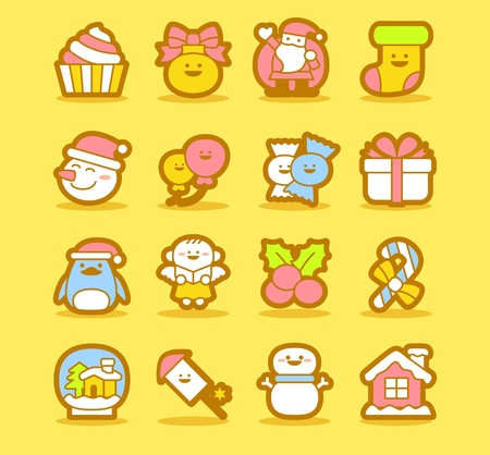 illustration - set of christmas icons Stock Vector - 10739898