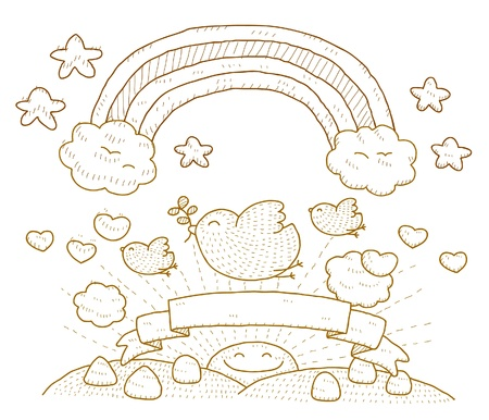 simply: Dove,cloud,rainbow and Simply peace