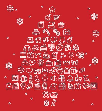 Hand drawn Holidays,xmas icon set Stock Vector - 10807070