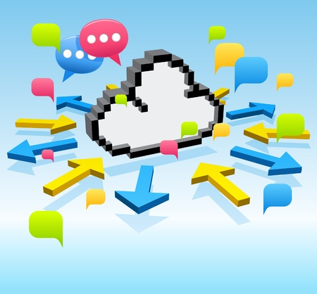Vector cloud computing,communication,network concept  Vector