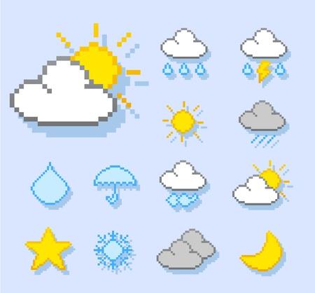 weather icon set Stock Vector - 10927201