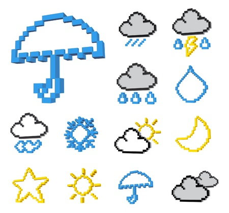 drizzle: weather icon set Illustration