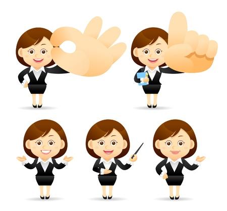 maestra enseñando: De negocios establecidos Vectores