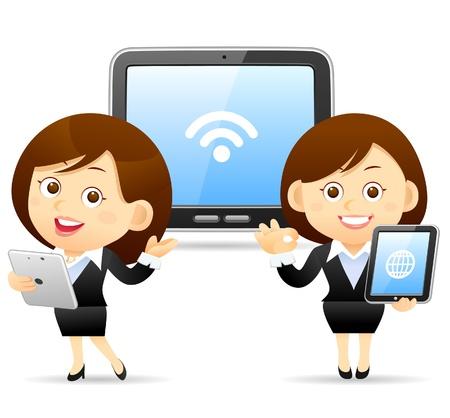 tablette pc: Femme d'affaires, le concept Tablet PC