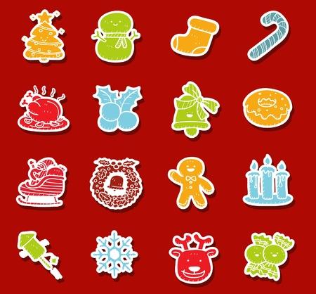 Hand drawn Holidays,xmas icon set Vector