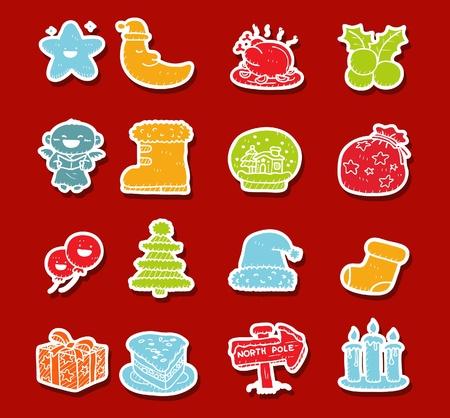 Hand drawn Holidays,xmas icon set Stock Vector - 10926394