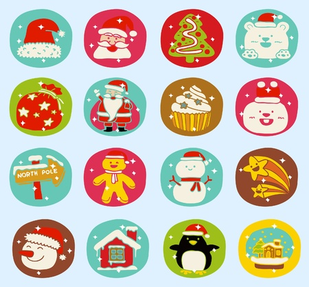 Hand drawn Holidays,xmas icon set Stock Vector - 10926391