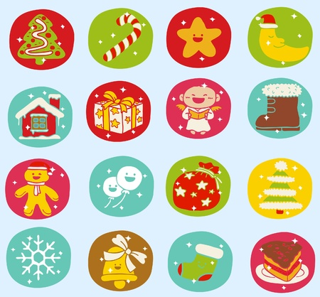 Hand drawn Holidays,xmas icon set Stock Vector - 10926390