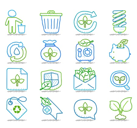 Hand drawn Environment,ECO icon set Stock Vector - 10927254