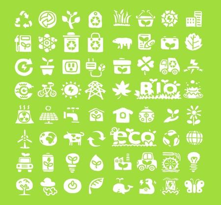 Hand drawn Environment,ECO icon set Stock Vector - 10926361