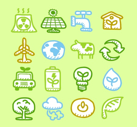 Hand drawn Environment,ECO icon set  Stock Vector - 10926308