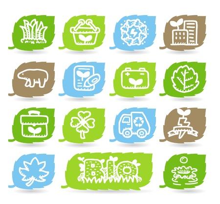 Hand drawn Environment,ECO icon set Stock Vector - 10926312