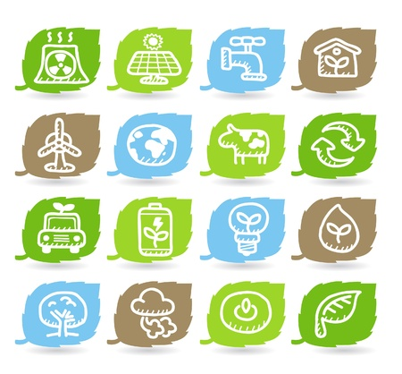 Hand drawn Environment,ECO icon set Stock Vector - 10926309