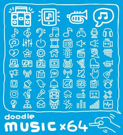 pictogrammes musique: Main ic�nes de la musique tir�es