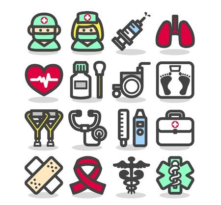 urgencias medicas: M�dico, emergencia, los iconos de la salud establece